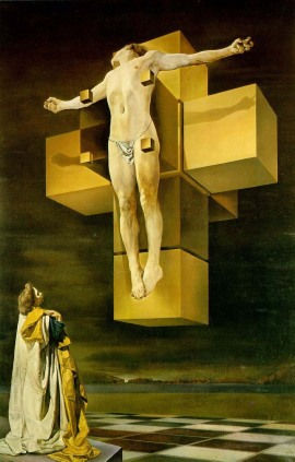 Crucifixion (Hypercubic Body) by Salvador Dali