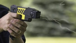The Advanced Taser M26, manufactured by Taser International, is one of two types of stun guns used by police forces.