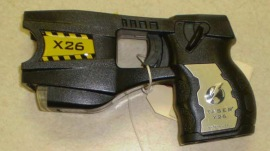 The Taser X 26 is one type of stun gun used by police forces