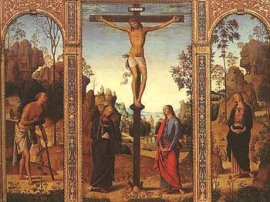 Perugino's Jesus on The Cross