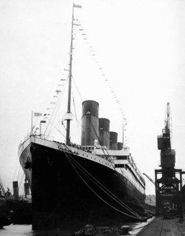 RMS Titanic before departing Southampton, England. photo taken Good Friday 5 April 1912