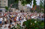 Canada Day celebrations on Wellington Street, in front of the Château Laurier, in Ottawa.