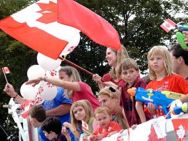 Canada Day Parades take place throughout the country.