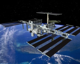 Artists's rendering of the completed international space station