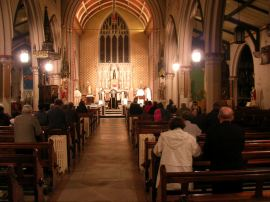 Parishioners pray on all-souls-day